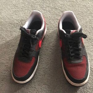 Nike Air Force ones.  Size 9.5. Worn once.